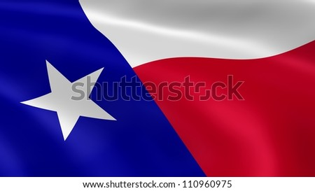 Texan flag in the wind. Part of a series. - stock photo