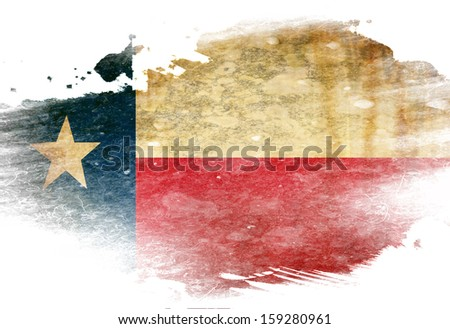 Texan flag  with some grunge effects and lines - stock photo