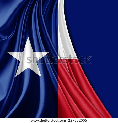 Texas flag fabric and blue background