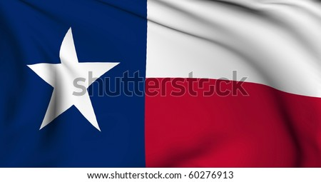Texas flag - USA state flags collection - stock photo