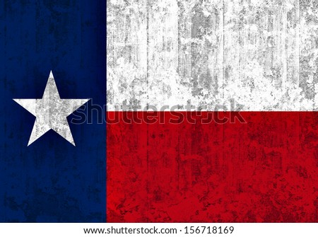 texas  flag, wall background - stock photo