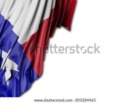 Texas Flag with white - stock photo