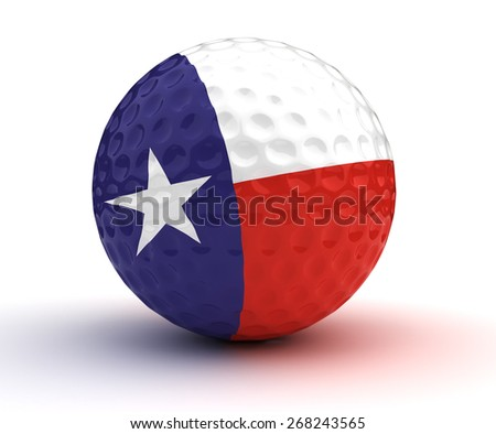 Texas Golf Ball (Isolated with clipping path) - stock photo