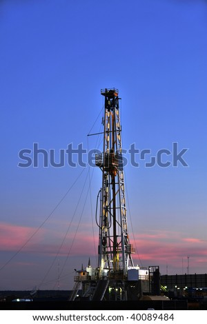Texas Oil Well Rig - stock photo