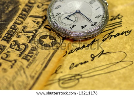 Texas pocketwatch - stock photo