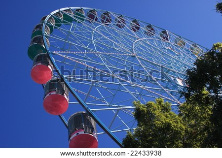 Texas sized ferris wheel - stock photo