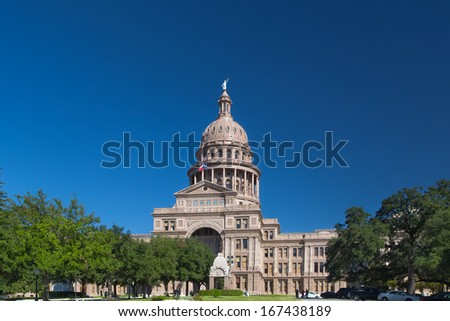 Texas State Capitol Building in Austin, Texas, USA - stock photo