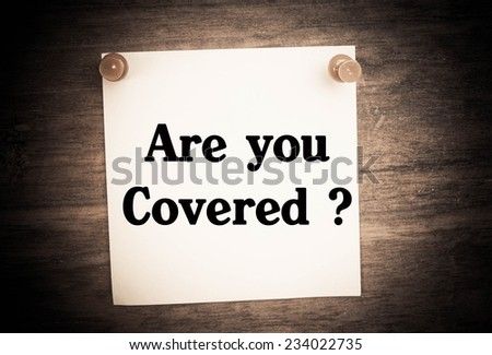 Text are you covered  - stock photo