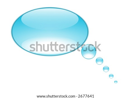 text bubble created from aqua style buttons - stock photo