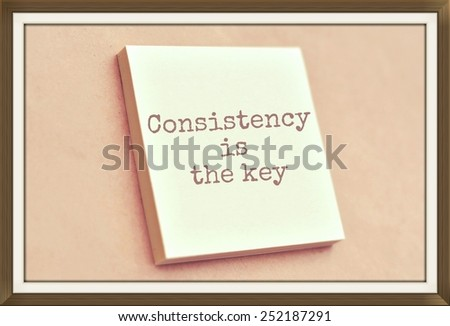 Text consistency is the key on the short note texture background - stock photo