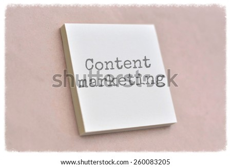 Text content marketing on the short note texture background - stock photo