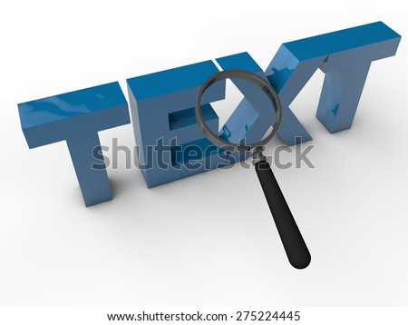 Text - 3d text over white background - stock photo