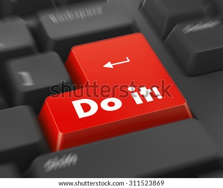 Text do it button 3d render - stock photo