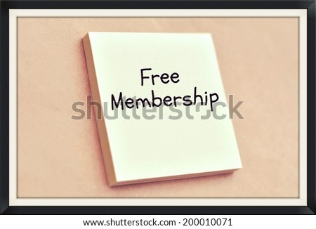 Text free membership on the short note texture background