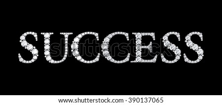 Text from diamonds success - stock photo