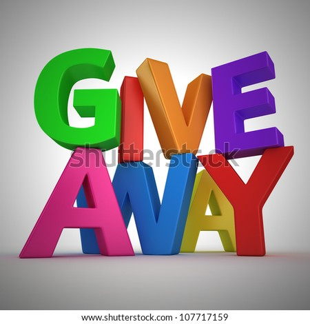 """Text """"Giveaway"""" made from multicolored letters - stock photo"""