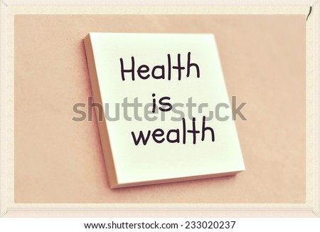 text health wealth on short note stock photo shutterstock text health is wealth on the short note texture background