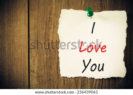 text i love you  - stock photo