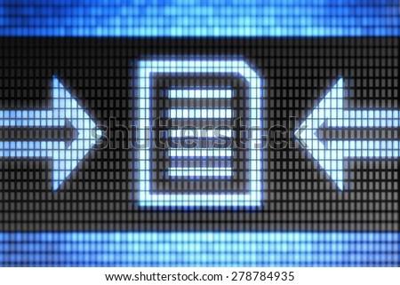 Text icon - stock photo