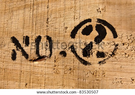"Text ""number two"" on wood texture surface - stock photo"