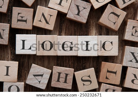 text of LOGIC on cubes - stock photo
