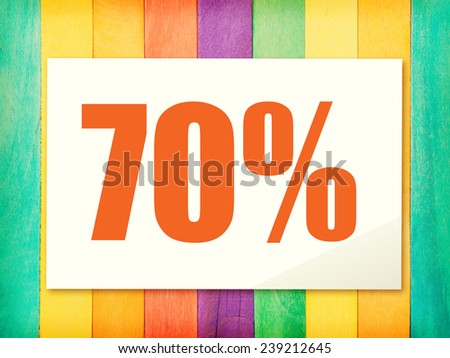text on paper and wood colorful Background old retro vintage style - stock photo