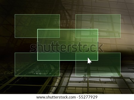 Text on the light button on the grunge wall - stock photo