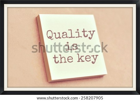 Text quality is the key on the short note texture background - stock photo
