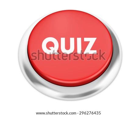 Text quiz button 3d render - stock photo
