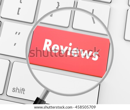 Text reviews button, 3d rendering