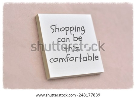 Text shopping can be this comfortable on the short note texture background - stock photo