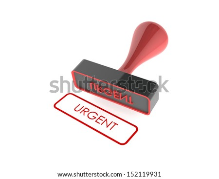 "text "" Urgent "" rubber stamp on white background"
