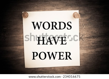 Text words have power on the short note texture background - stock photo