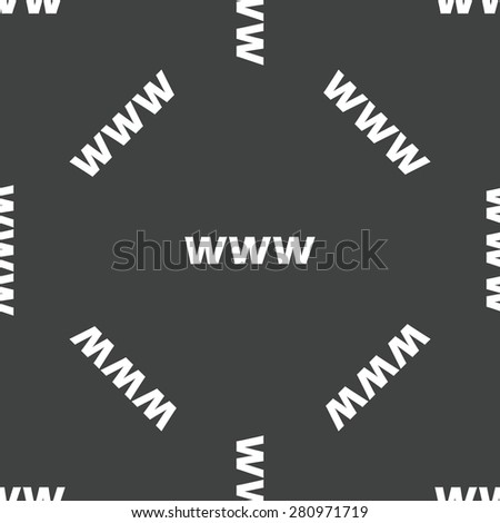 Text WWW repeated on grey background - stock photo