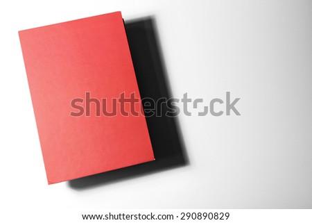 Textbook on white background - stock photo