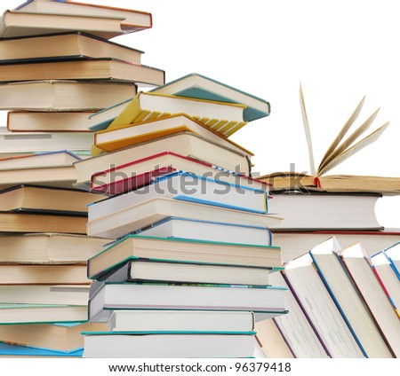 Textbook's learning collection - stock photo