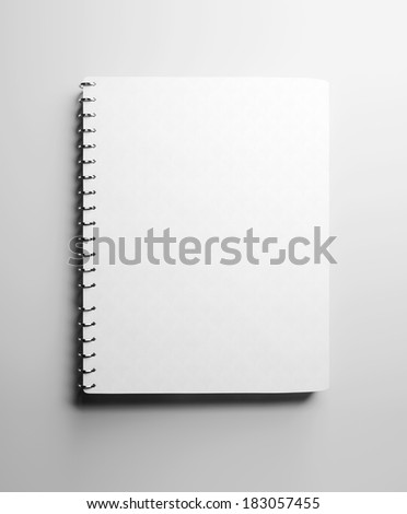Textbook with blank cover - stock photo