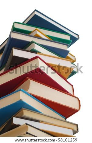 textbooks - stock photo