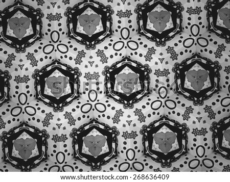 Textile cloth black and white