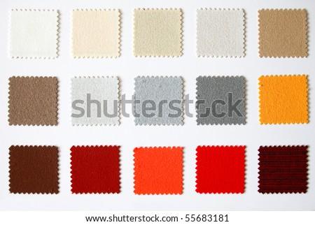 textile colour palette square cutout - stock photo