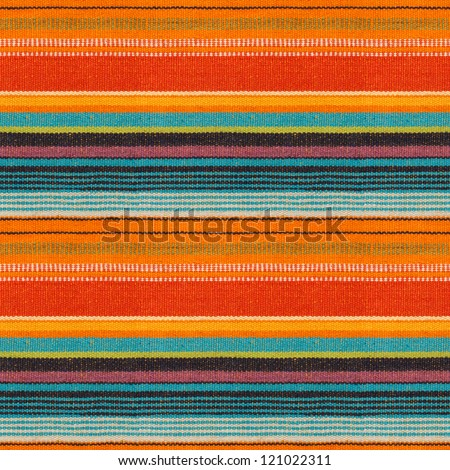 Textile Detail Seamless Background with Mexican Color (texture pattern for continuous replicate) - stock photo