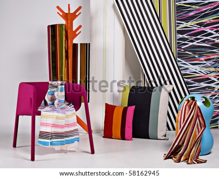 textile display - stock photo