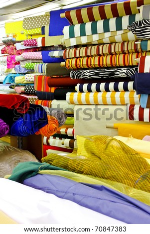 Textile fabric rolls for fashion clothing industry