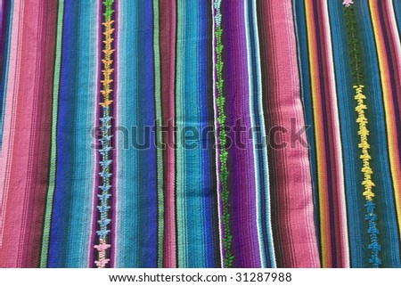 Textile from Guatemala - stock photo