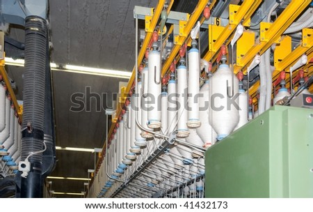 Textile industry (denim) - Department spinning