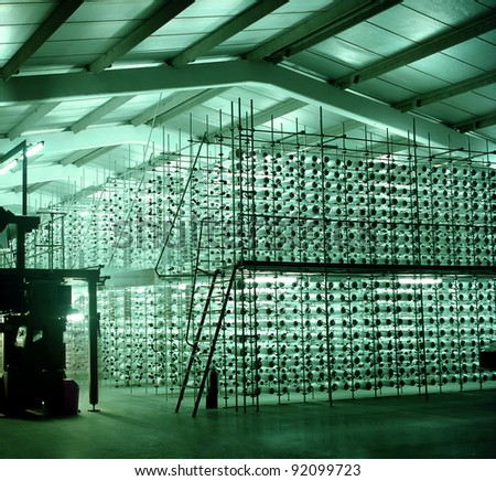 Textile Production - Weaving - stock photo