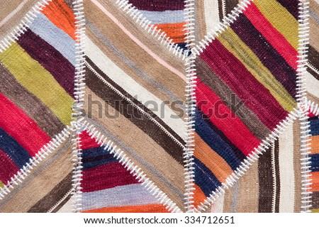 Textile rug texture - stock photo
