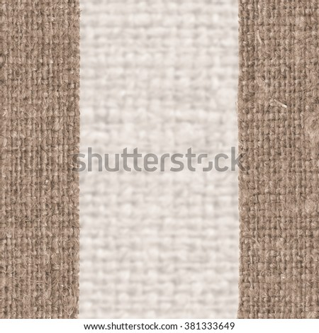 Textile tarpaulin, fabric interior, brown canvas, faded material abstract background - stock photo