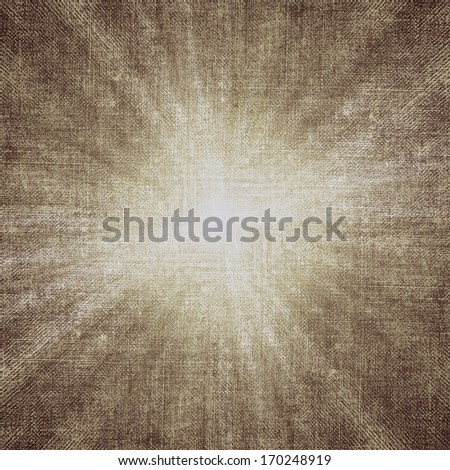 Textile texture background with starburst effect. Stylish vintage background, weathered old paper texture, rich composition collage work. - stock photo