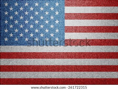 textile USA flag - stock photo